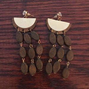 Jewelry - Brown dangly earrings